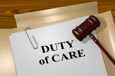 What is the duty of care?